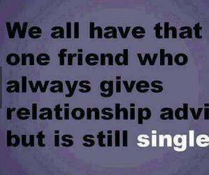 friends, single, and quote image