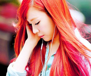 red hair, snsd, and hwang image