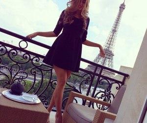 girl, paris, and dress image