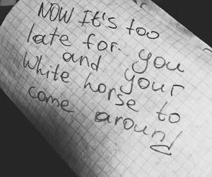 black and white, lyric, and Lyrics image