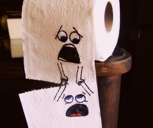 funny, Paper, and toilet image