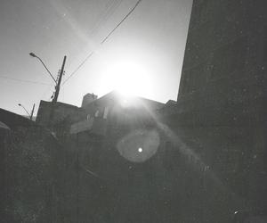b&w, city, and sunlight image