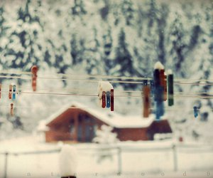 house, snow, and weheartit image