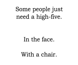 chair, face, and high-five image