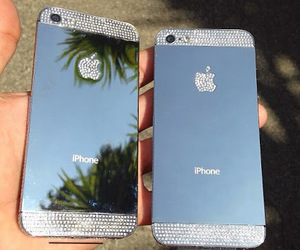 iphone, apple, and diamond image