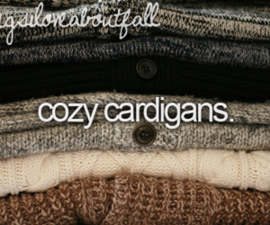 autumn, cardigans, and fall image