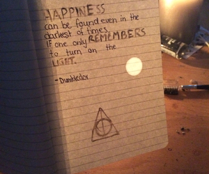 Darkness, dumbledore, and happiness image