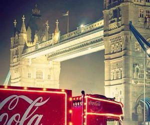 christmas, cocacola, and london image