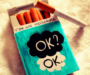 cigarette, metaphore, and the fault in our stars image