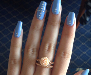 nails, awesome, and blue image