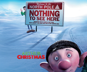 north pole, arthur christmas, and nothing to see here image