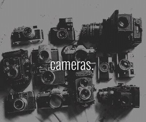 b and w, camera, and cameras image