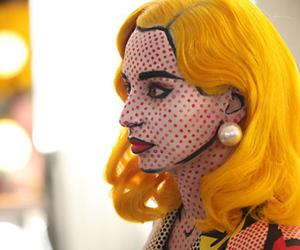 comic, pop art, and makeup image