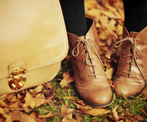 shoes, autumn, and vintage image