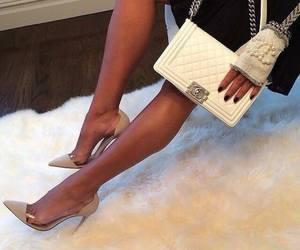 chanel, heels, and shoes image