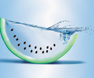 water, watermelon, and blue image