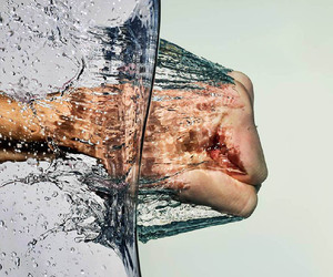 break, hand, and water image