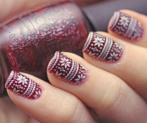 christmas, nail polish, and nail art image