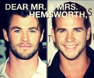 hemsworth, liam hemsworth, and chris hemsworth image