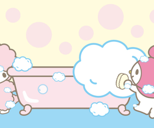 my melody, sanrio, and my sweet piano image