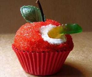 cupcake, apple, and food image