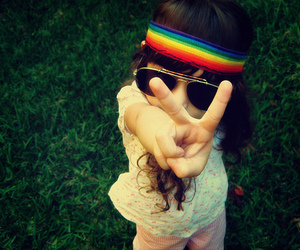 kid and peace and love image