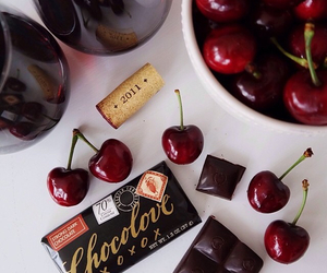 cherry, chocolate, and food image
