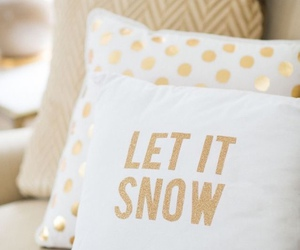 christmas, pillow, and let it snow image