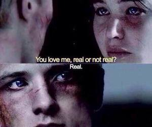 love, katniss, and peeta image