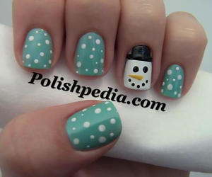 cute, nails, and snow image