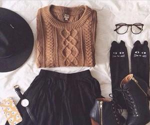 dress, fashion, and jacket image