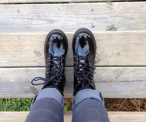 alone, black, and boots image