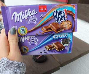 chocolate, milka, and oreo image