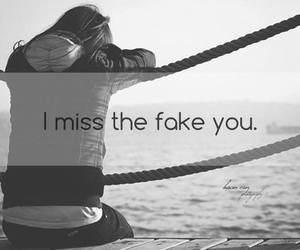 alone and fake you image