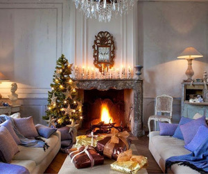 decoration, lights, and christmas tree image