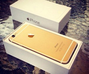 gold, iphone, and iphone6 image
