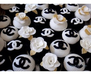 chanel, cupcakes, and flower image