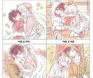 anime, drawing, and couple image