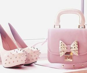 bag, heels, and pink image