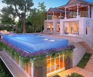 house, beautiful, and mansion image