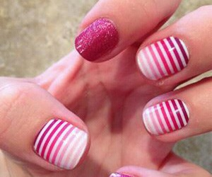 dip dye, red, and nails image