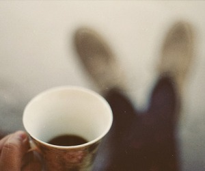 vintage, coffee, and cup image