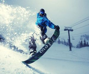 snow, snowboard, and winter image