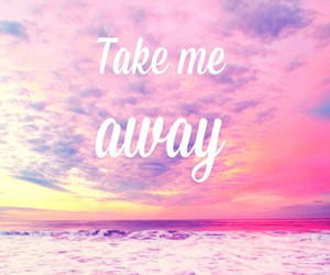 pink, away, and quotes image
