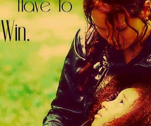 rue, katniss, and hunger games image