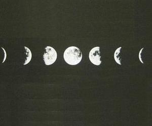 night, black, and moon image