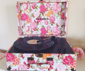 music, vintage, and floral image