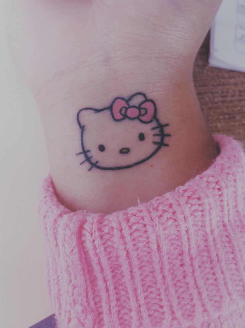 Hello Kitty Tattoo Shared By Ikattie On We Heart It