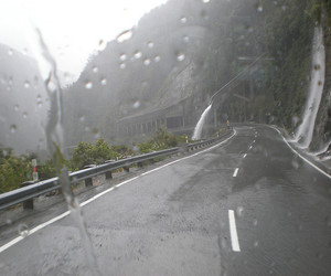rain, road, and pale image