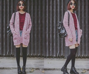 cardigan and pink image